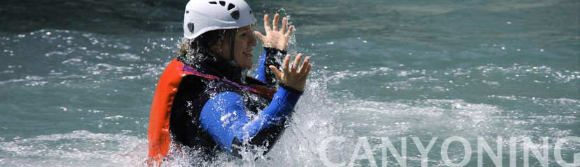 canyoning, sortie de groupe
